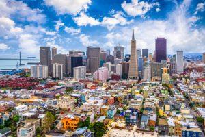 San Francisco, California, USA city skyline.