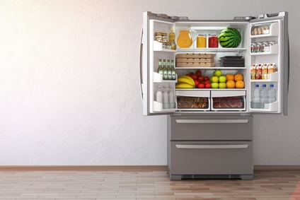 Open Fridge with food inside it