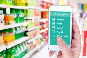 Home maintenance app helps buying groceries