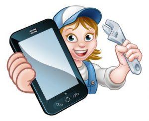 A girl maintenaning her home using an app
