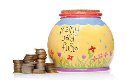 Young homeowner saving funds for a Rainy day