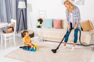 Setting the vacuum cleaner to carpet mode